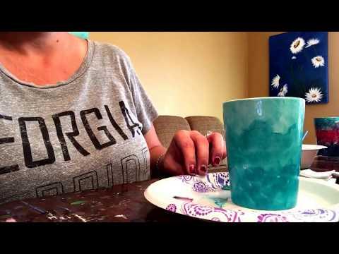 Ombré Alcohol Ink Tutorial on Mug