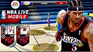 NBA Live Mobile 17 My Daily Grind Raw & Uncut | ⛹🏽 94 Steve Nash, 94 Allen Iverson, 88 Jeremy Lin!