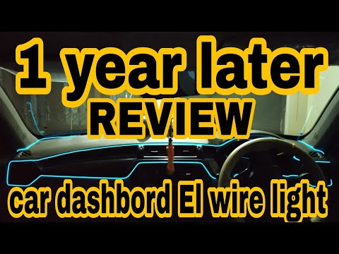 Car dashboard el wire light ice blue full information Brezza,kuv100,Dzire,Baleno ,KWID tiago other