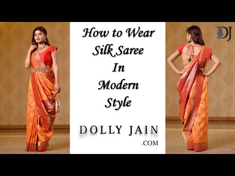 Xxx Mp4 How To Wear Silk Saree In Modern Style Dolly Jain Saree Draping Styles 3gp Sex