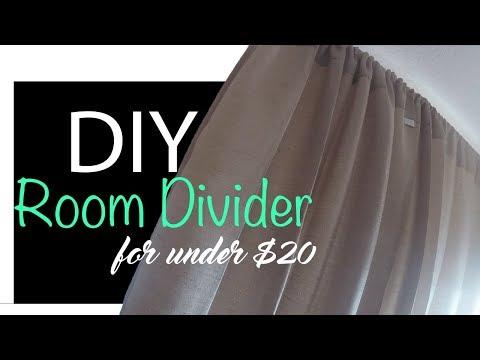 Easy DIY Room Divider   Under $20 dollars!