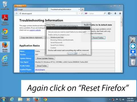 How to reset Firefox to it's default state