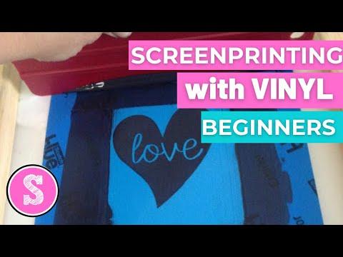 Silhouette Screenprinting Tutorial (for beginners)
