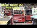 New Harbor freight U.S General 56''tool box with custom built hutch... and some sanding in cab