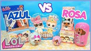 Download LOL Surprise *AZUL VS ROSA* LoL Surprise Hair goals * EaKis * LOL Original vs Fakes. LOL BOYS Video