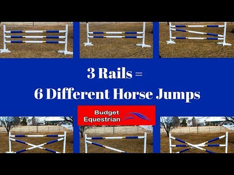 6 Different Horse Jumps With 3 Rails or Less