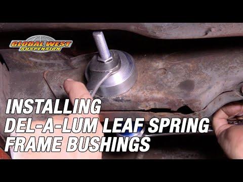 How to: Camaro, Firebird, Nova Del-a-lum leaf spring frame bushing install made easy