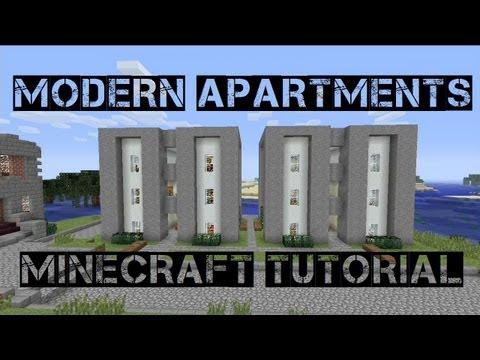 Modern Apartments (Minecraft Tutorial)