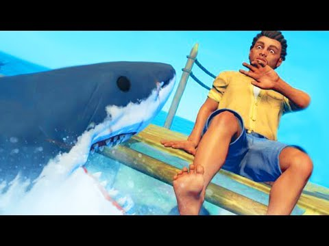 SHARK ATTACK ON A RAFT! – Raft Survival Game Ep 1 | Pungence