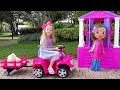 Download Nastya plays with playhouses and dolls MP3,3GP,MP4