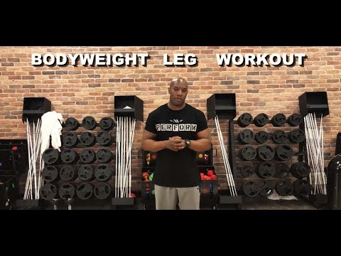 BODYWEIGHT/CALISTHENICS LEG WORKOUT