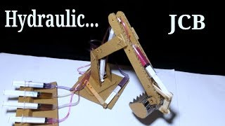 How to Make Hydraulic JCB From Cardboard HD Video