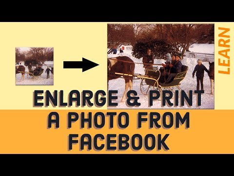 How To Enarge and Print a Photo from Facebook Using Photoshop