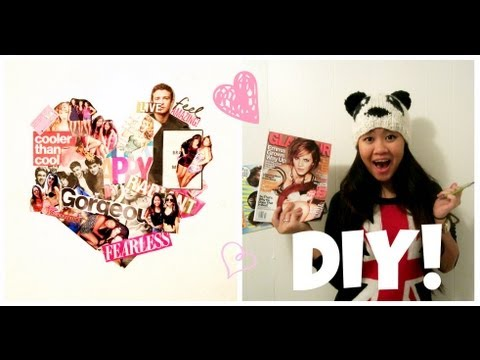 How to Make a Heart-Shaped Wall Collage!