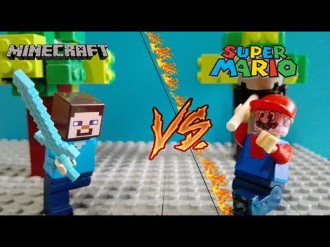Lego Mario vs Minecraft