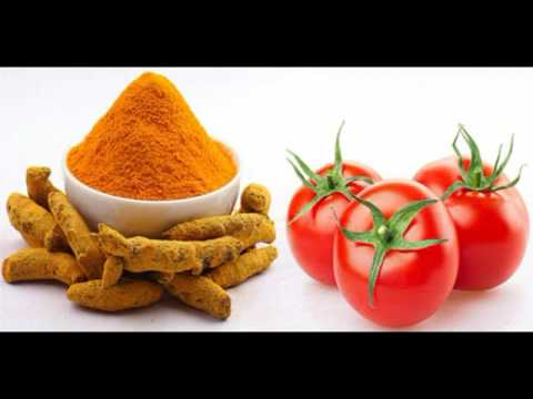 Tomato face pack with turmeric for glow and fair skin