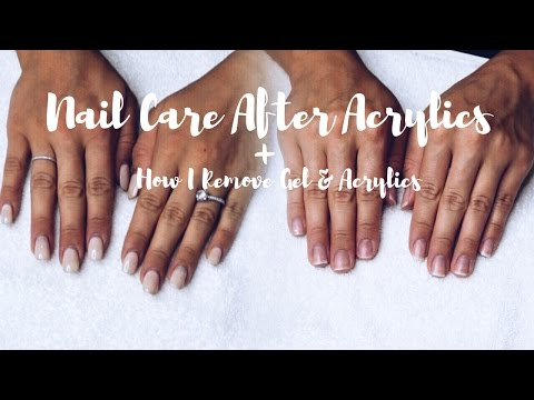 Nail Care After Acrylics + Gel & Acrylic Removal || SimplySandra