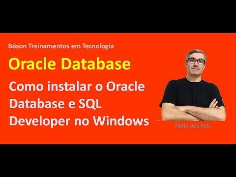 Como instalar o Oracle Database e SQL Developer no Windows