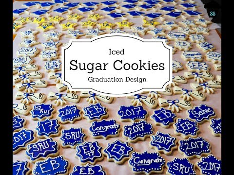 Iced Sugar Cookies: Graduation Design