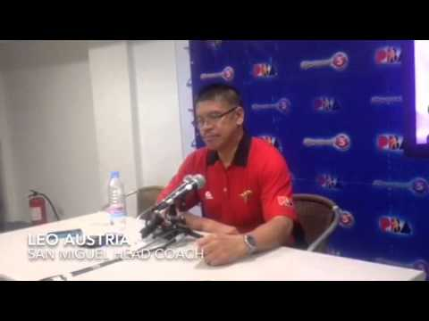 Post-game interview with coach Leo Austria after Beermen took 2-1 lead in PBA semis