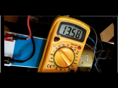 how to check ups charging circuit with multimeter