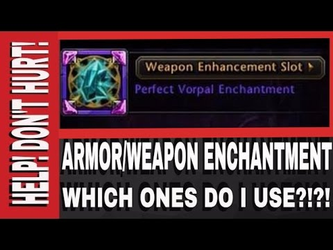 Vorpal or PlagueFire? SoulForged or Negation? Weapon/Armor Enchantments For GWF NeverWinter!