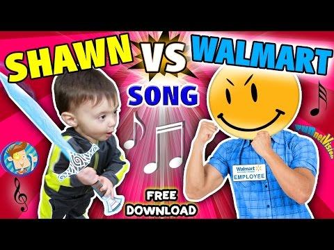 BABY SHAWN vs. WALMART!  Kids Rap Song