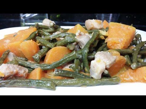 Ginataang Sitaw at Kalabasa Recipe (String beans and Squash in Coconut milk)