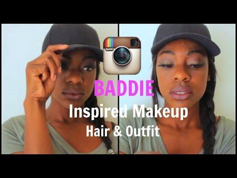INSTAGRAM BADDIE INSPIRED MAKEUP,HAIR & OUTFIT!