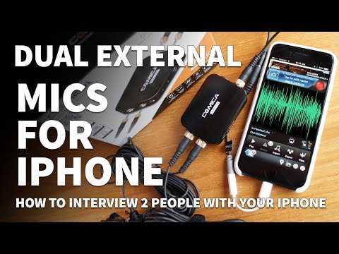 Dual External Microphone for iPhone – iPhone External Microphone for Interviews and Vlogging