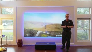 Sony 4k Projector Ultra Short Throw VPL-GTZ1 and Zero Edge Short Throw Projection Screen