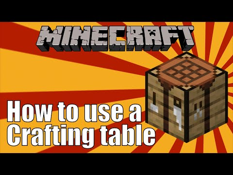 How to use a Crafting Table in Minecraft