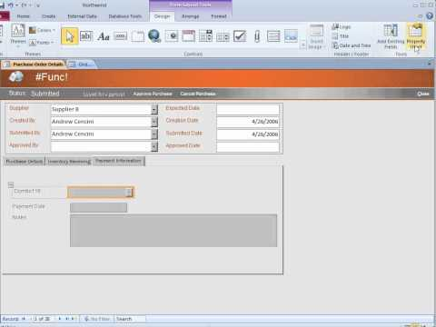 Microsoft Office Access 2010-Add a combo box or drop-down list on an Access form