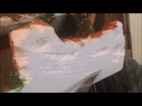 DIY:  Christmas Village from Polystyrene Part 1