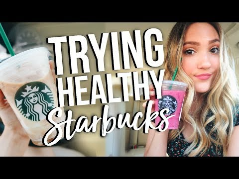 TRYING BRITTANY DAWN'S HEALTHY STARBUCKS DRINKS! Are They ACTUALLY Good?