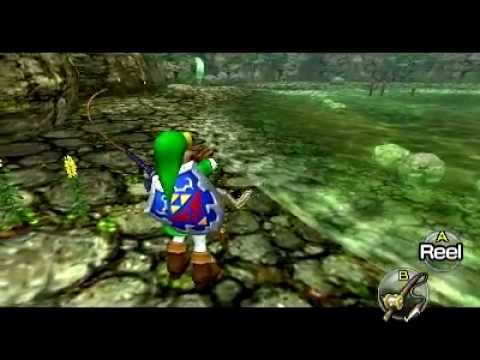 The Legend Of Zelda: Ocarina Of Time 3D - Hyrule Loach (loves to jump on stones)