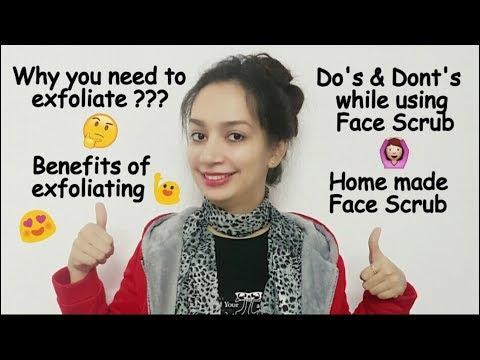 Benefits of face Scrub(DO'S & DON'TS)(hindi) | Homemade Face scrub ||Glad To Share