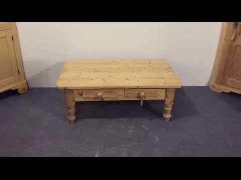 Reclaimed Pine Coffee Table - Pinefinders Old Pine Furniture Warehouse