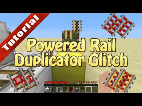 Minecraft Infinite Powered Rail Duplication Glitch (PC, Xbox, and PS3!) - Tutorial