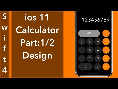 Calculator App Par 1/2: Designing (Swift 4 + Xcode 9.0)