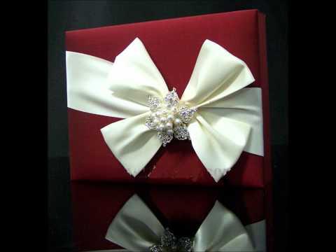 Carlo-Cards Couture Silk wedding invitation boxes