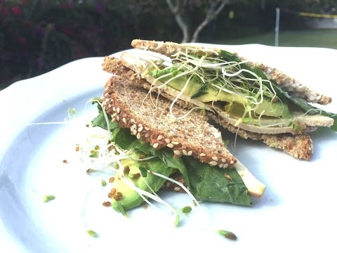 SPROUTED TOFU SANDWICH - HEALTHY LUNCH IDEAS