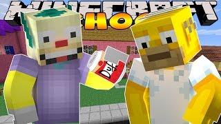 Minecraft School - VISITING THE SIMPSONS!