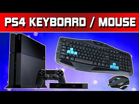 How to use mouse and keyboard on PS4!