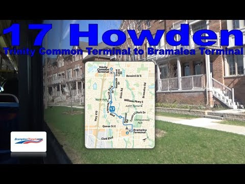17 Howden - Brampton Transit 2005 Nova Bus LFS 0602 (Trinity Common Terminal to Bramalea Terminal)