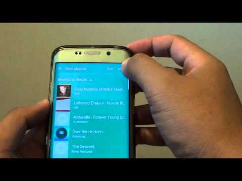 Samsung Galaxy S6 Edge: How to Re-arrange Songs in the Music Playlist