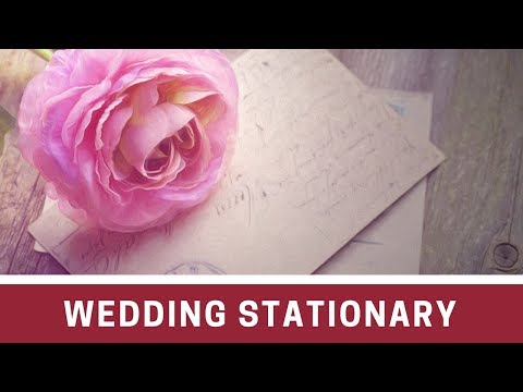 How To Organize Your Wedding Stationary