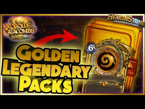 Hearthstone - GOLDEN LEGENDARY PACKS WTF Moments - Kobolds and Catacombs Funny Rng Moments