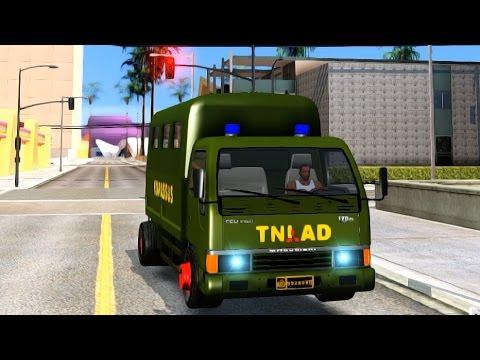 GTA San Andreas - Mitsubishi Colt Diesel Truck Kopassus EnRoMovies