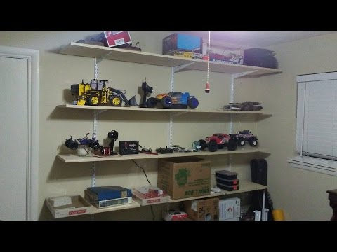 quick and easy adjustable shelves for wall storage, closet or garage